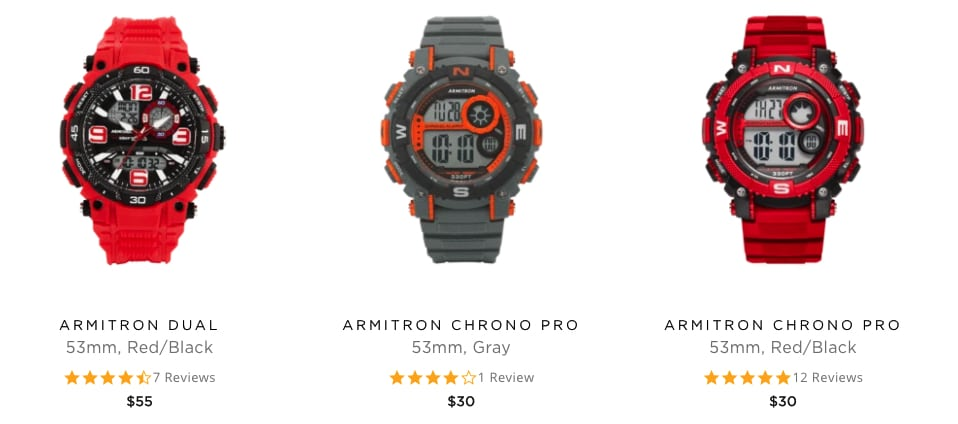 Armitron Watches Styling