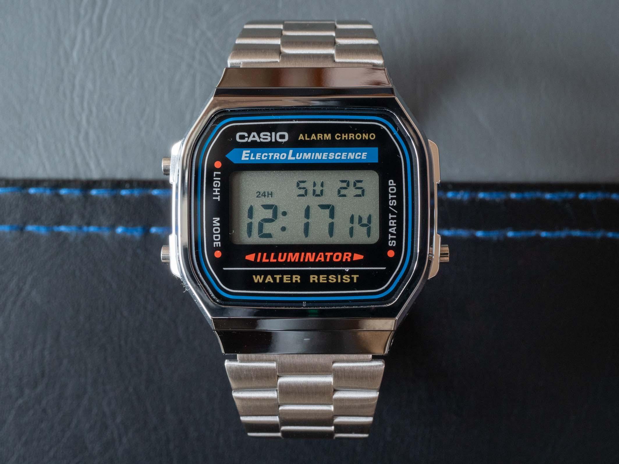 Casio A168 dial