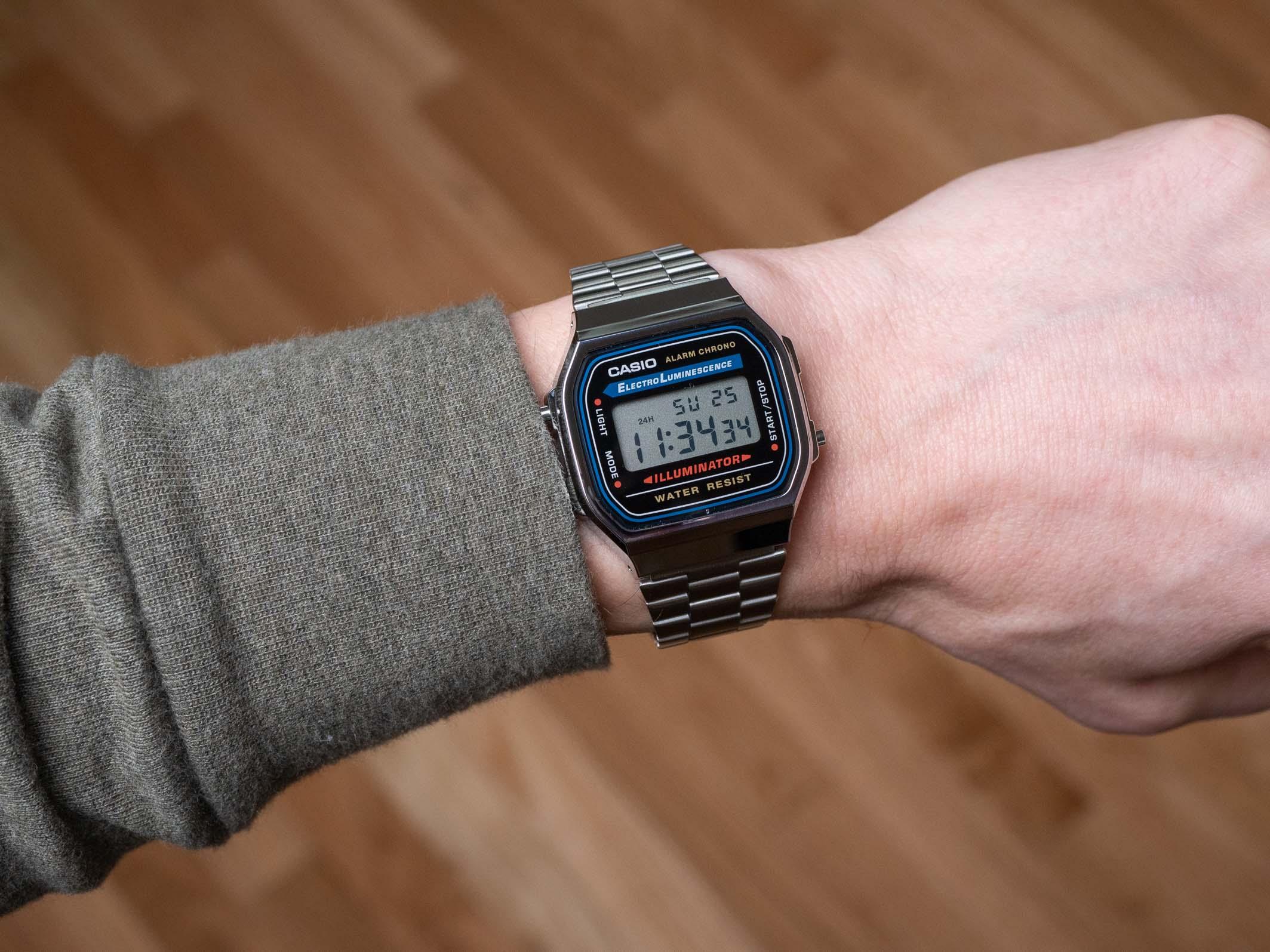 Casio A168 on wrist 2