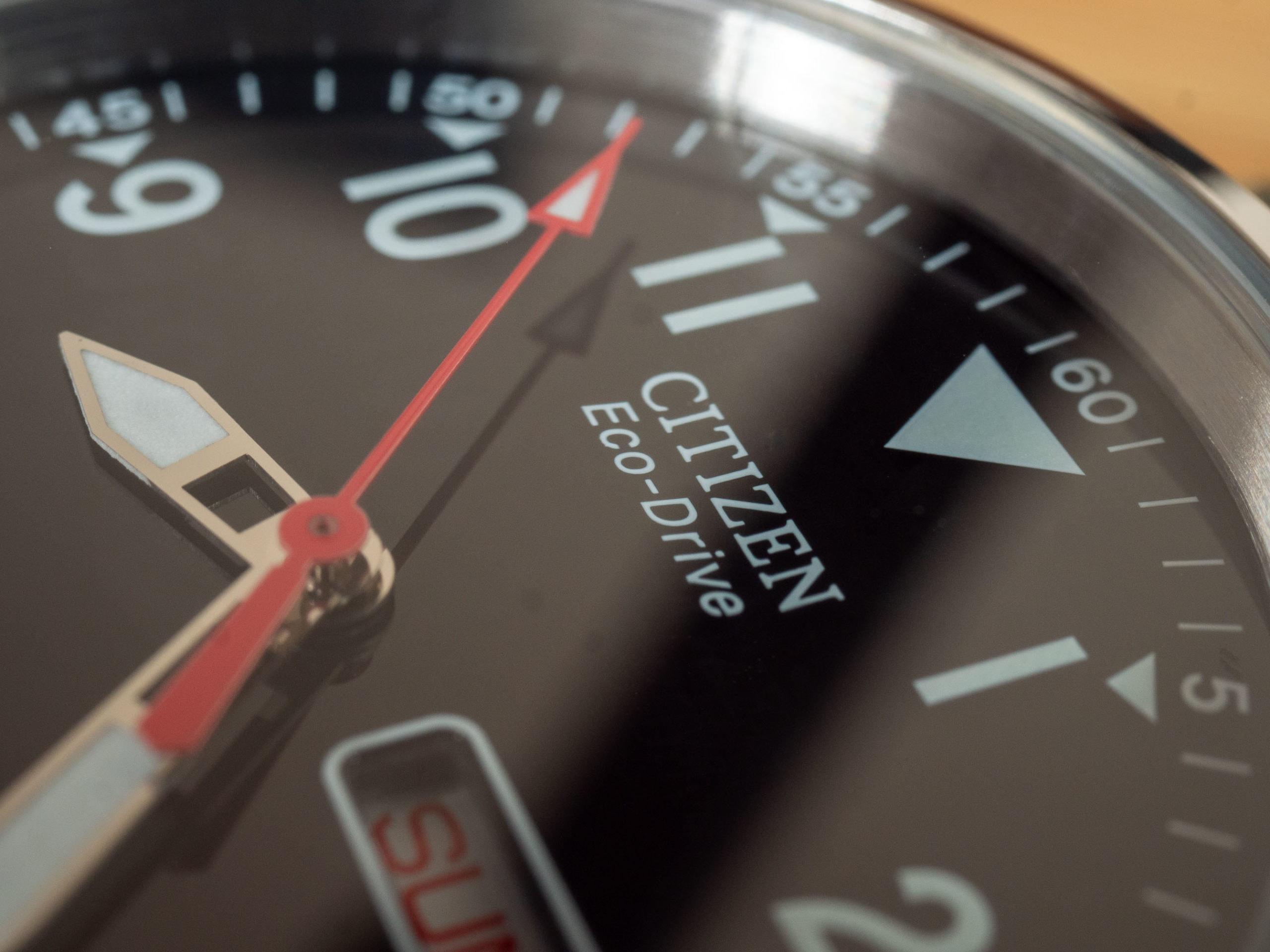 Citizen Eco Drive Chandler dial logo