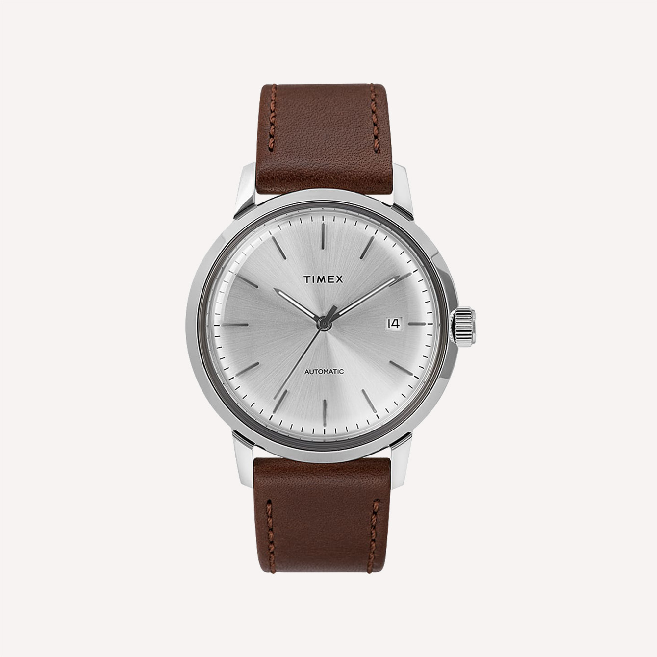 MARLIN AUTOMATIC 40MM LEATHER STRAP WATCH