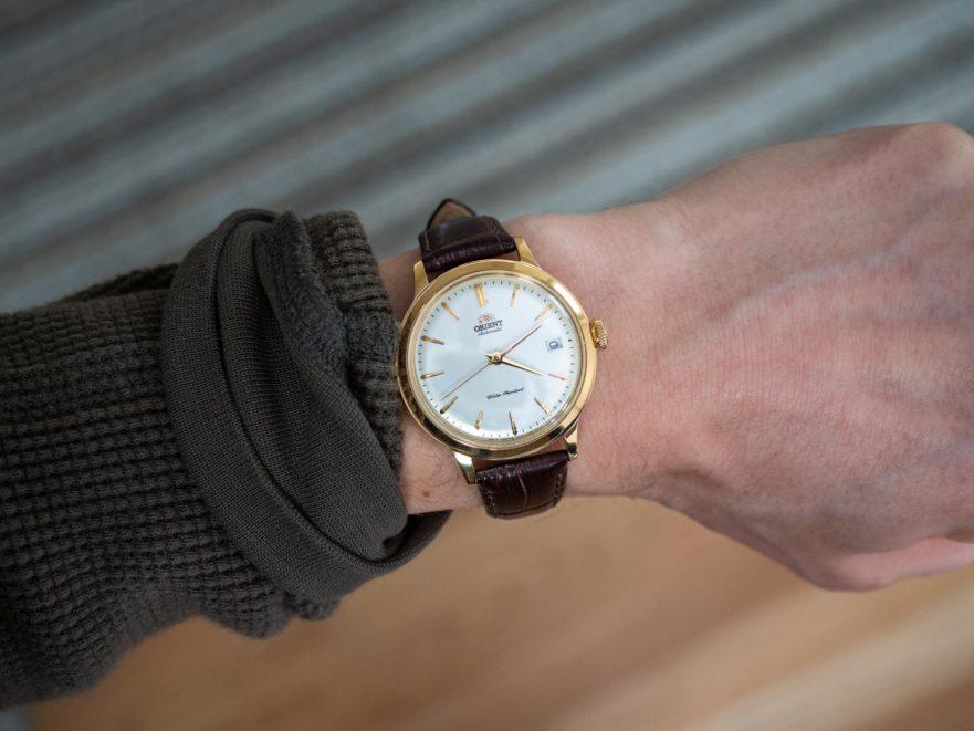 Orient Bambino 36 on wrist