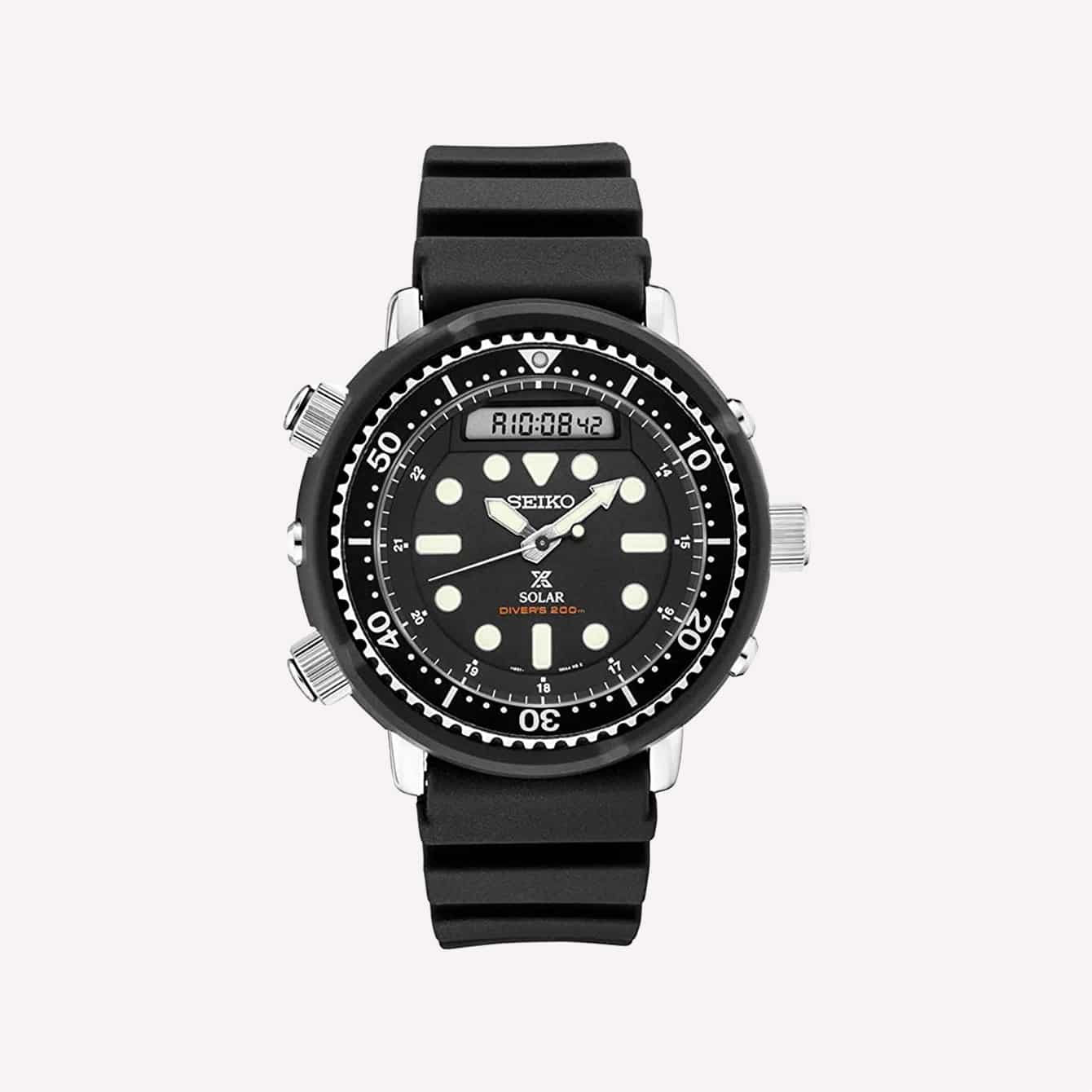 Seiko Prospex Arnie Re Issue Sports Solar Diver_s 200M Silicone Band Watch SNJ025P1