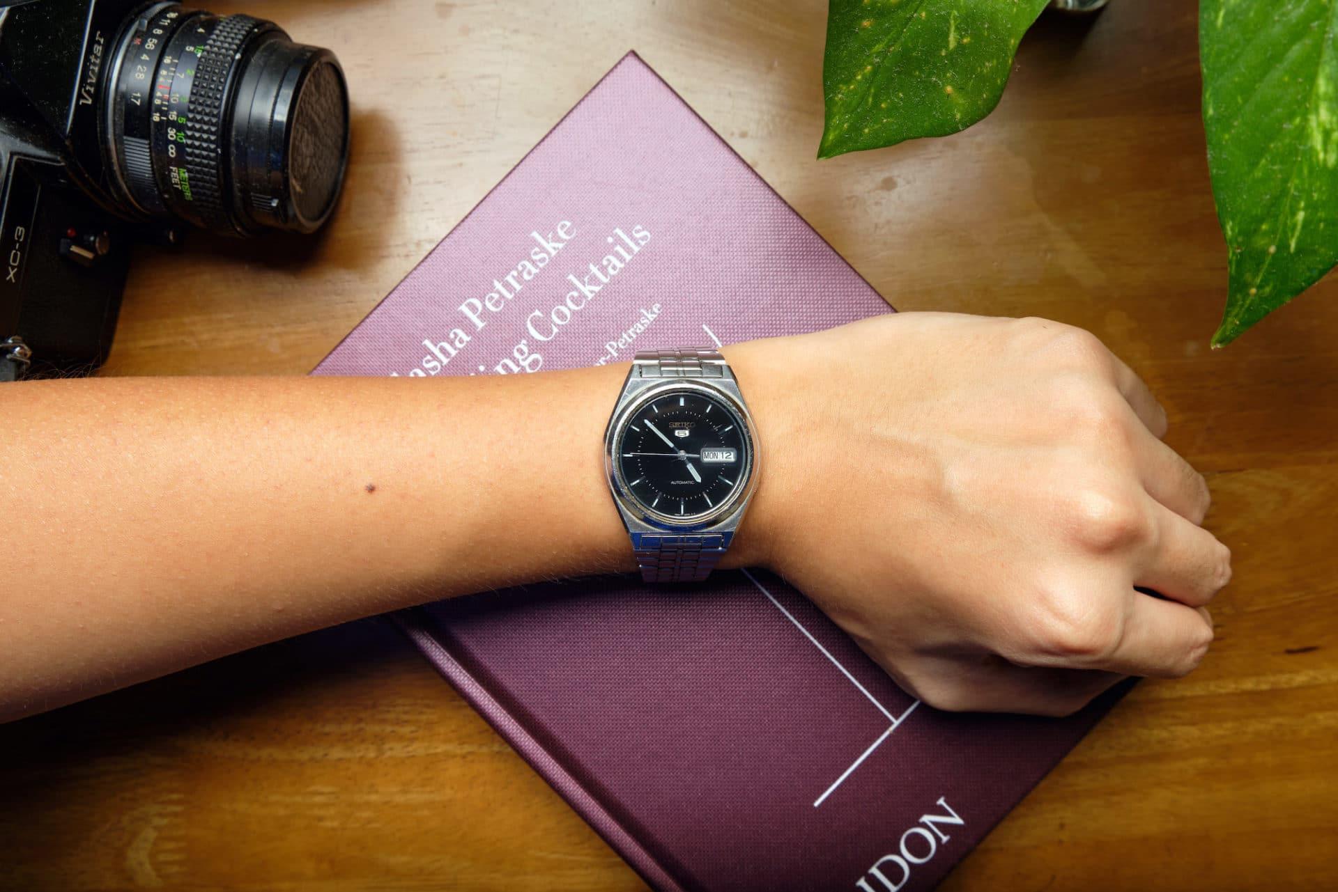Seiko SKXG67 on wrist