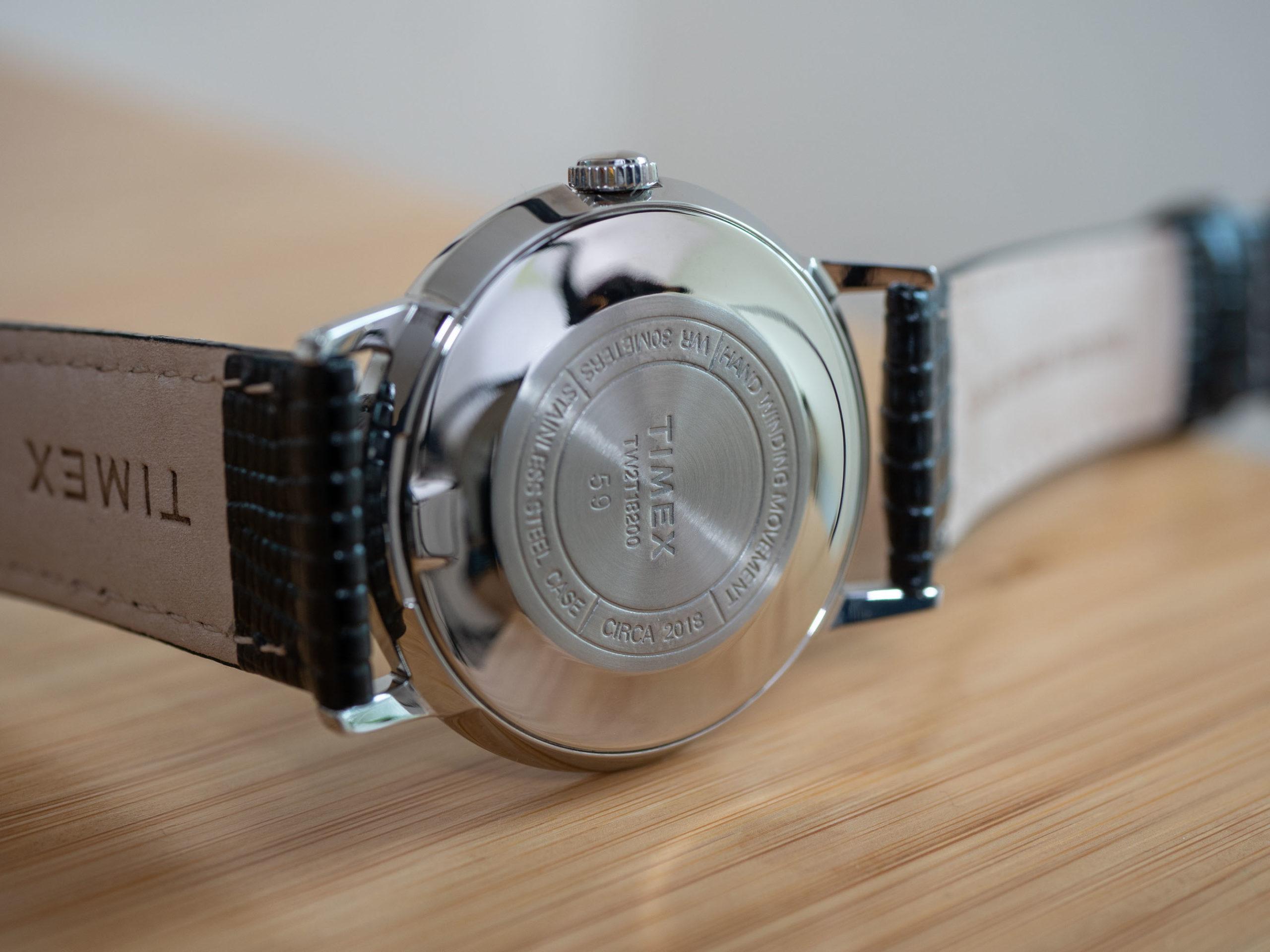Timex Marlin 34 case back