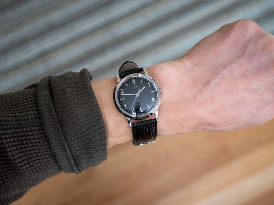Timex Marlin 34 on wrist