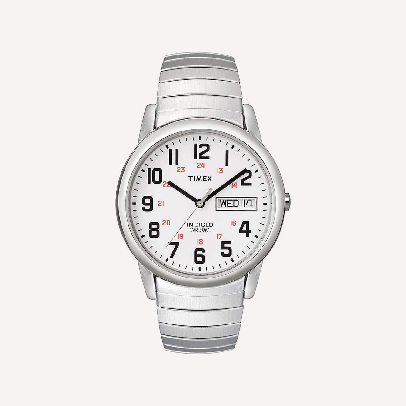 Timex Mens Easy Reader Day Date Expansion Band Watch