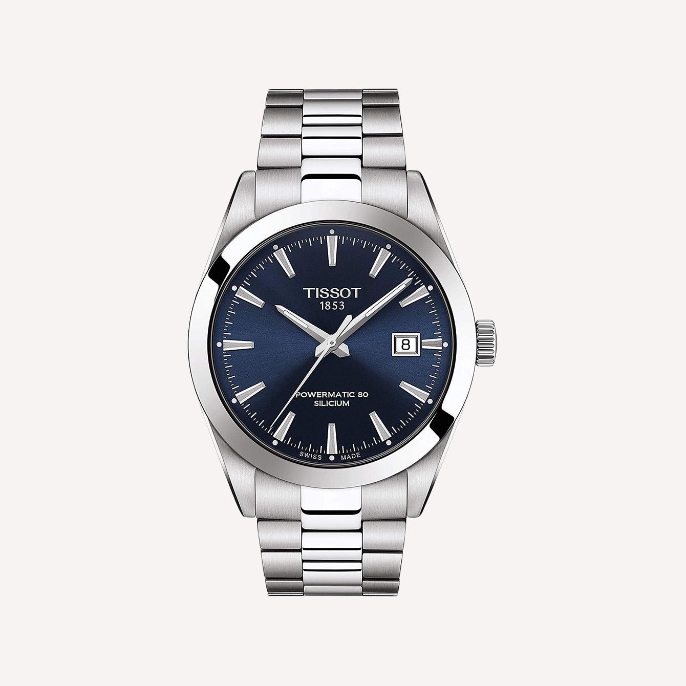 Tissot mens Gentleman Stainless Steel Dress Watch Grey