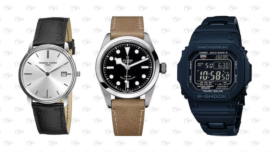 3 types of watches