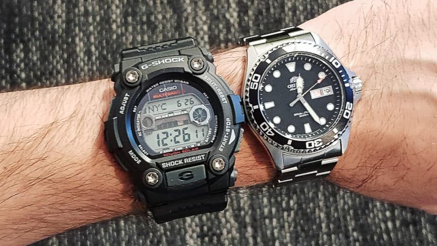 wearing two watches